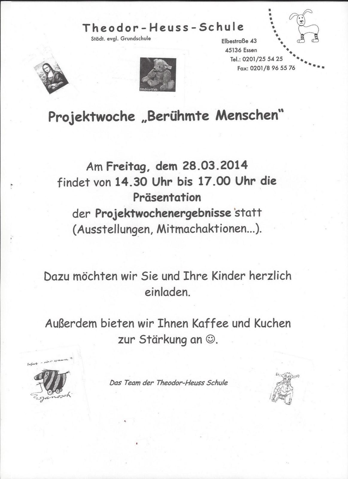 theodor-heuss-schule - aktuelles, Einladung