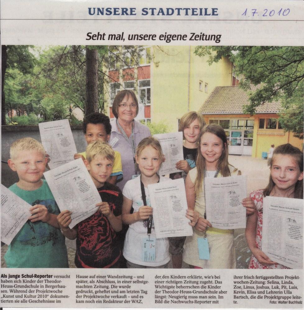 Zeitungsartikel von der Schülerzeitung