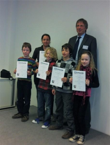 Gewinnerkinder des Mathematik Wettbewerbes
