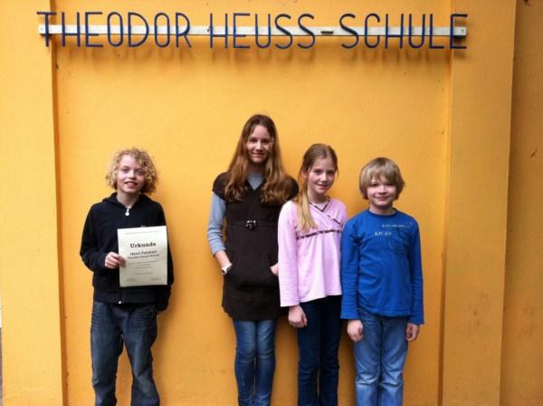 Gewinnerkinder des Mathematikwettbewerbes