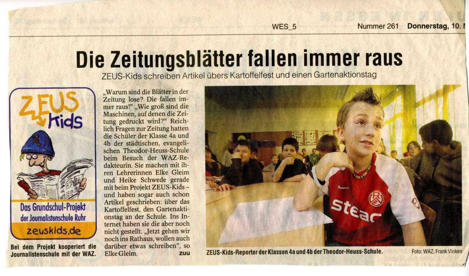 Zeitungsartikel Zeiss Projekt